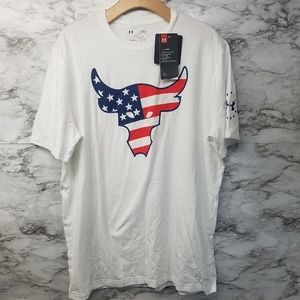 Under Armour The Rock Project Tshirt Mens L New